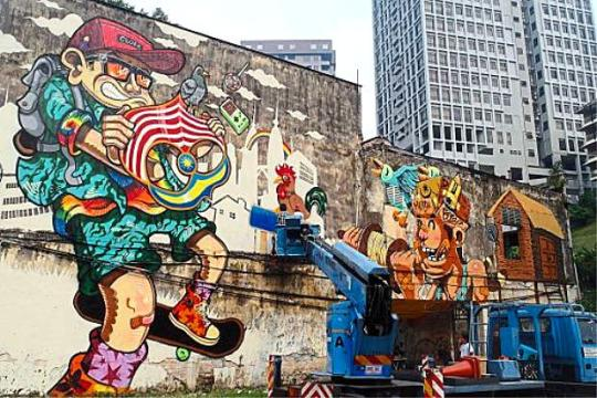 Malaysia s stunning street art the coolest murals and for Mural 1 malaysia