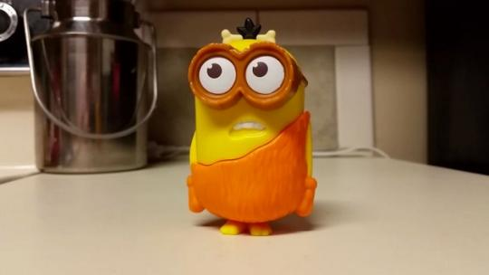 Is this McDonald's Minions Happy Meal Toy Saying 'F---'?