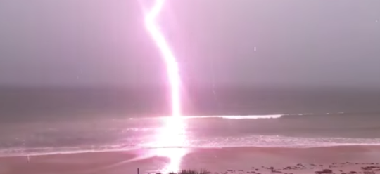 Watch What Happens When Lightning Strikes a Beach