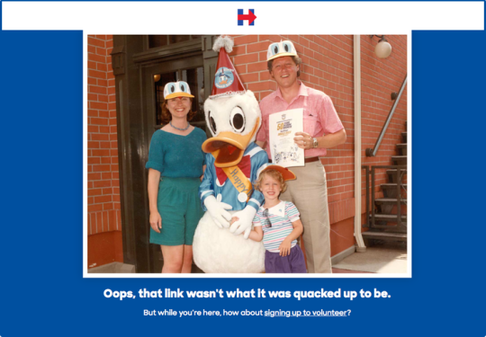Behold Hillary Clinton's Fantastic 404 Page