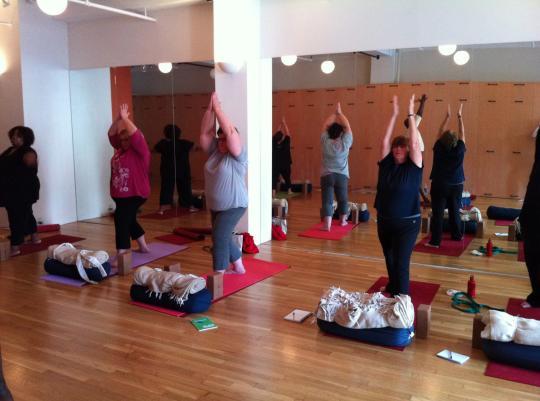At 'Fat Yoga,'Bucking Stigma And Embracing Body Positivity