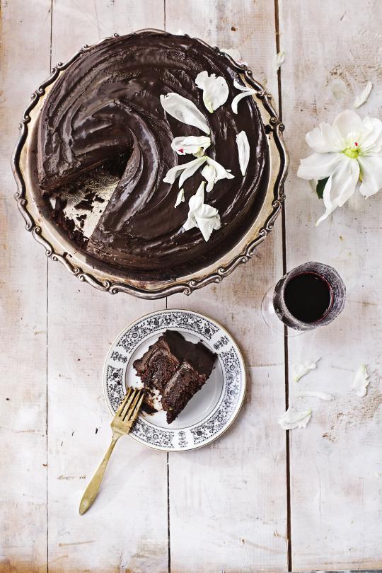 Vegan Dark Chocolate-Avocado Cake from 'Clean Green Eats'