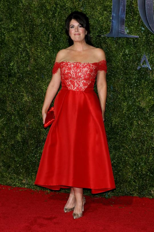 Monica Lewinsky Attends the Tony Awards In a Prom-Like Dress