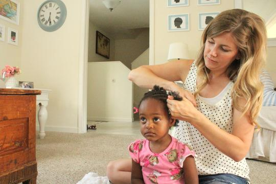 You Are So Beautiful!: Adoptive Mom Lauren Casper Bonds - Hairstyles For 2 Year Old Black Girl