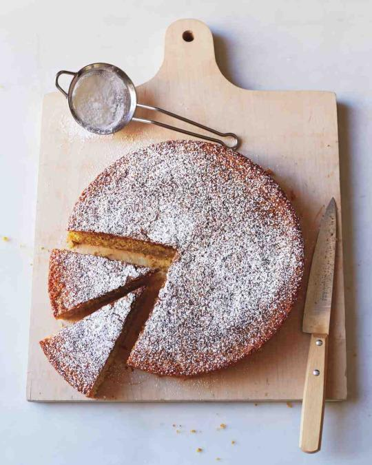 ... -inspired cornmeal cake extra-moist. And it's gluten-free, to boot