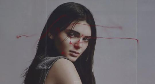 Kendall Jenner's Calvin Klein Billboard Vandalized by a Drone