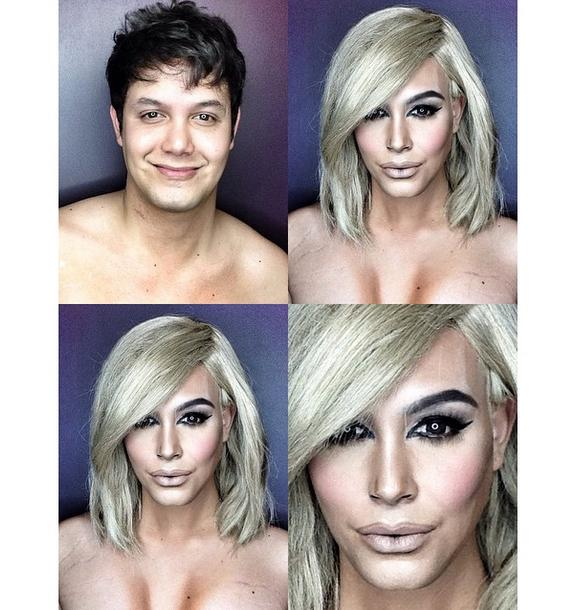 Dad Transforms Himself Into Kim Kardashian With Just Makeup