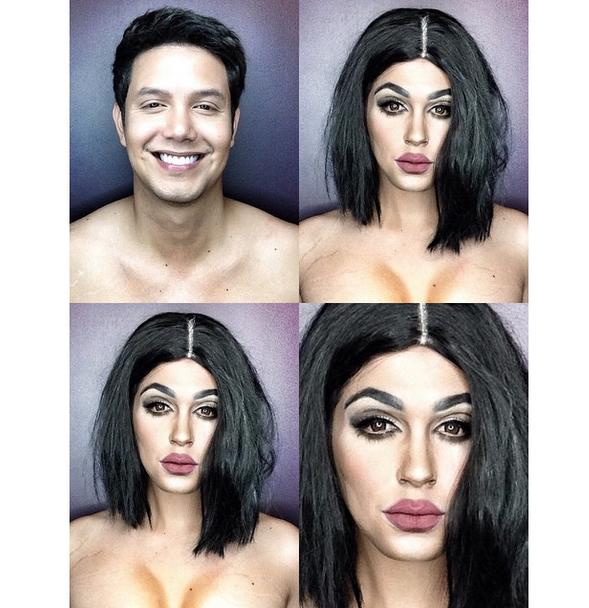 PHOTOS: Dad Transforms Himself Into Celebrities Using Makeup And Wigs 1