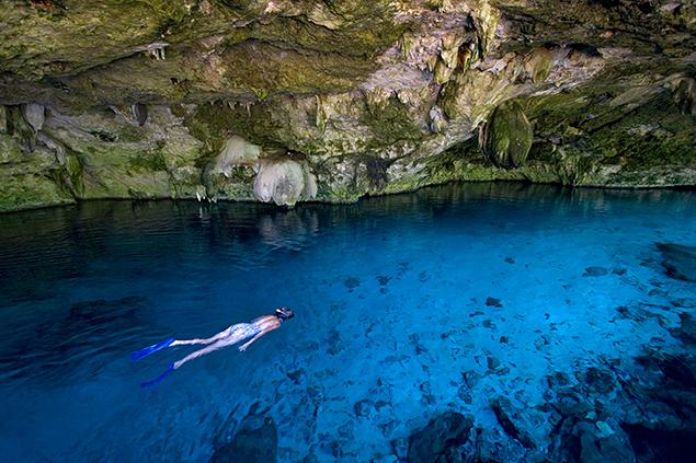 Cenote Snorkeling in the World's Longest Known Underwater Cave Systems, Quintana Roo, Mexico