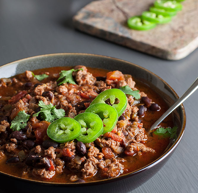 Spicy Black Bean Turkey Chili Recipe From 'No Gojis, No Glory'