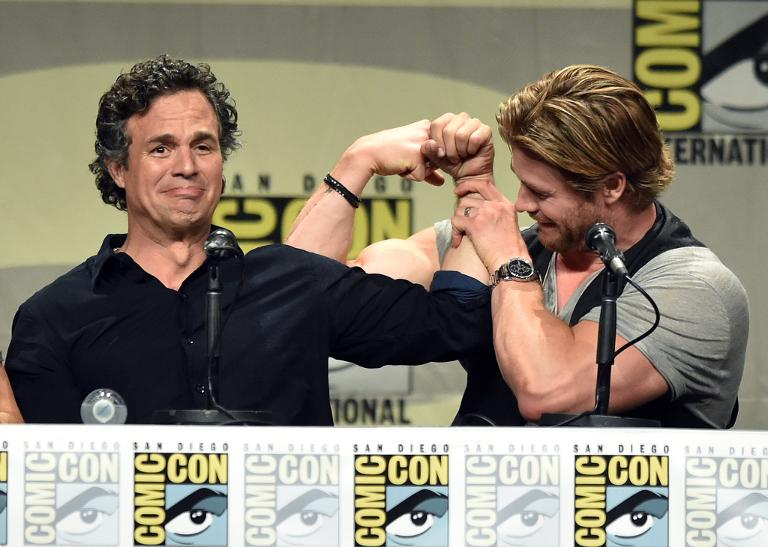 Mark Ruffalo and Chris Hemsworth