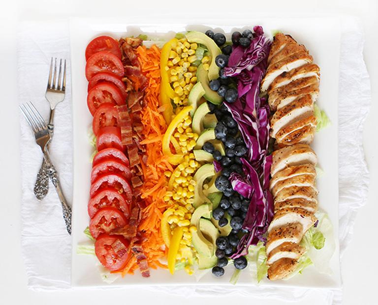 Spiked Rainbow Ribbon Salad From TableSpoon | Celebrate Gay Marriage ...