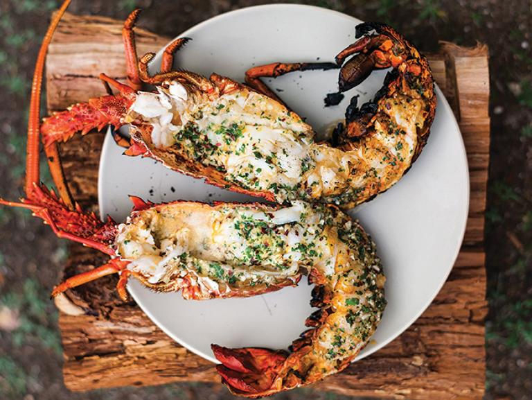 Grilled Lobster with Garlic-Parsley Butter | Summer Grilling Recipes ...