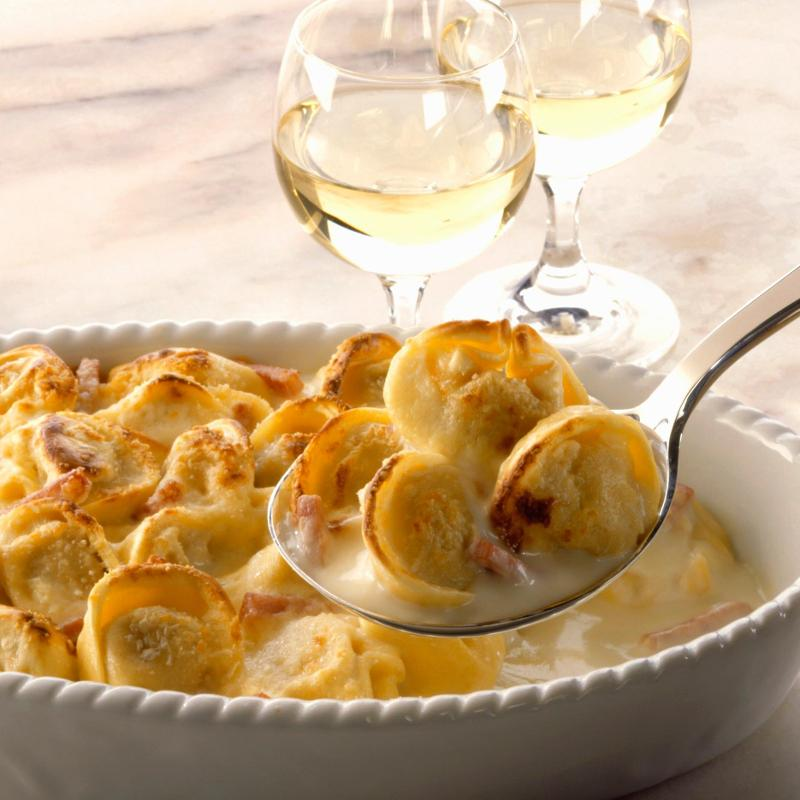 Winter Comfort Food! Baked Tortellini With Bacon