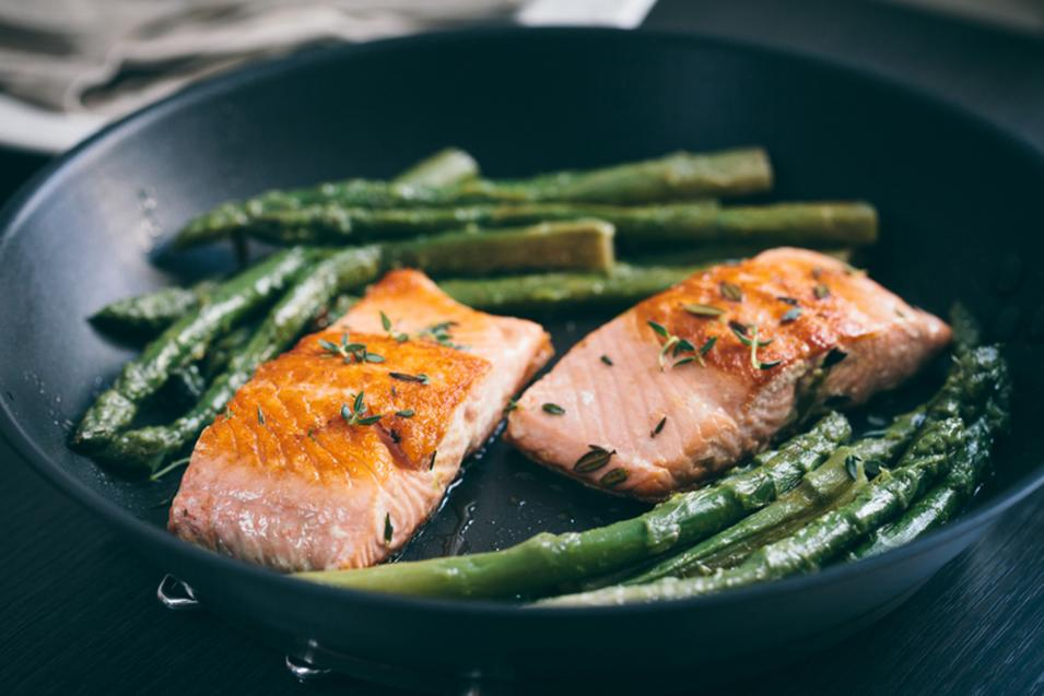 Food Salmon Asparagus Strawberries And Spring The New York Times