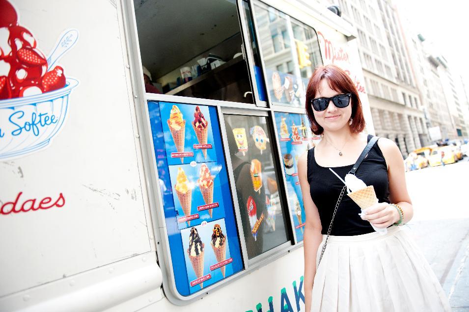 Natasha, 27, Art Gallery Assistant, Vanilla Waffle Cone