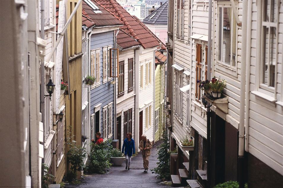 Knosesmauet is among the charming narrow streets in Bergen