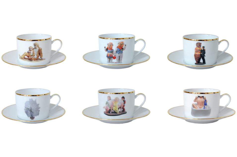 "Jeff Koons's ""Banality Coffee Cups and Saucers"""