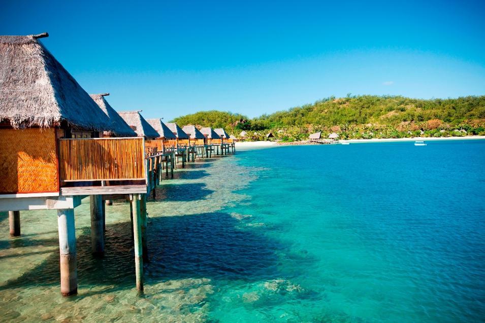 Likuliku lagoon resort fiji Overwater bungalows fiji