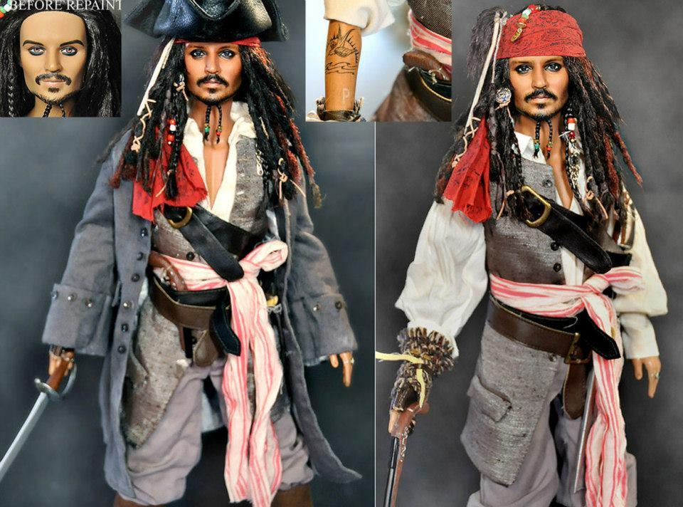 Johnny depp in pirates of the caribbean hollywood in miniature