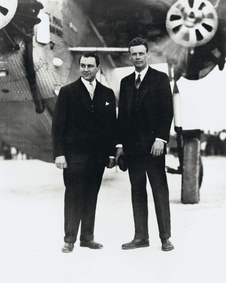 Juan Trippe (left) and Charles Lindbergh (right), 1929.