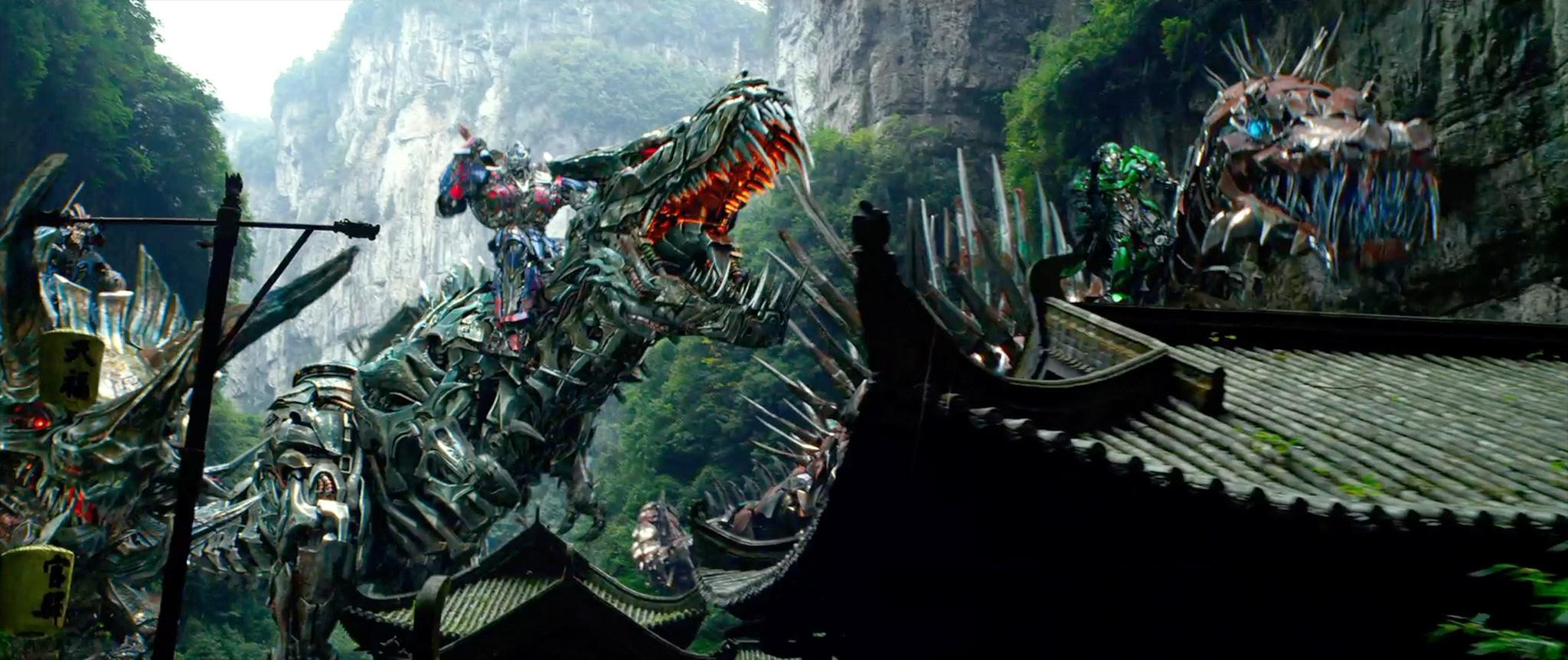 39 transformers age of extinction 39 spot reveals new - Dinosaure transformers ...