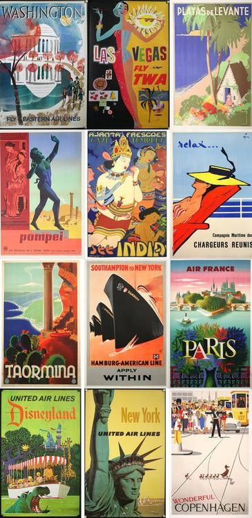 The Enduring Romance of Vintage Travel Posters
