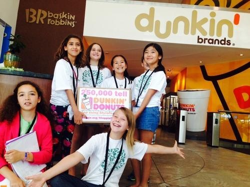 Stop Using Styrofoam Cups! Kids Challenge Dunkin' Donuts