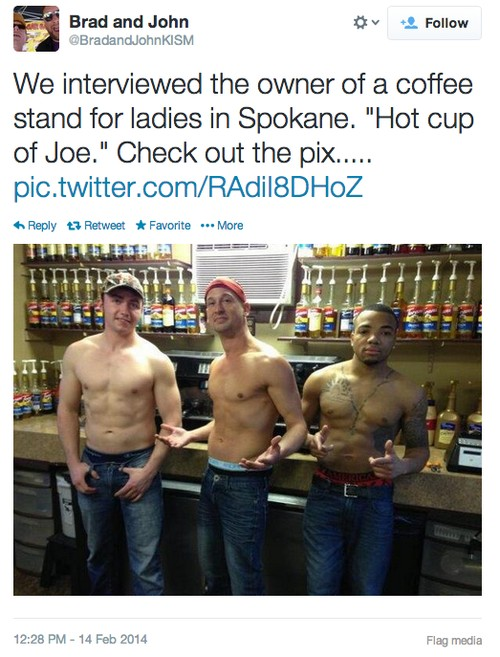 This Coffee Shop Is Staffed Exclusively by Shirtless Men