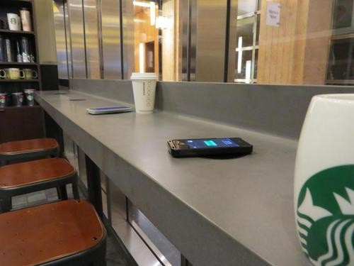 Starbucks Installing Wireless Charging Surfaces in U.S. Cafes