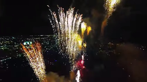 WATCH: Stunning Video Shows Fireworks Filmed via Flying Drone