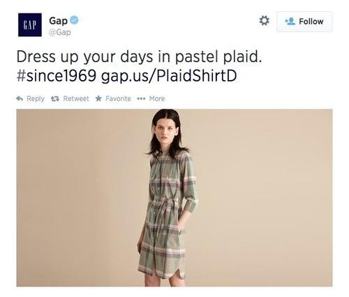 Gap Under Fire for Tweeting Thin Model