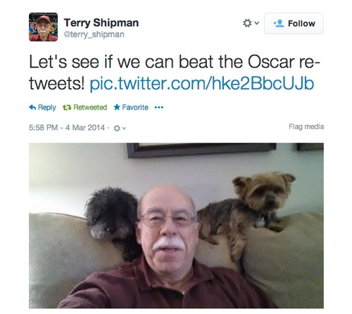 This Adorable Old Man and His Two Puppies Need Your Help to Beat Ellen's Retweet Record