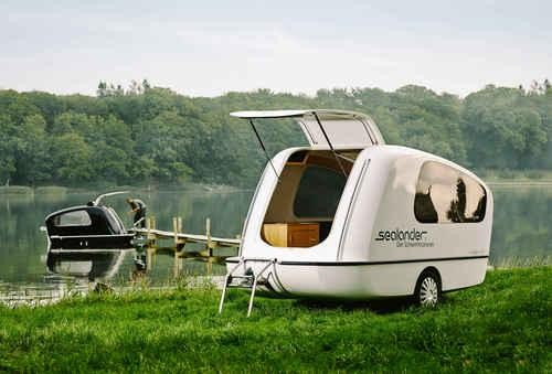 Go Camping and Boating at the Same Time with This Amphibious Trailer
