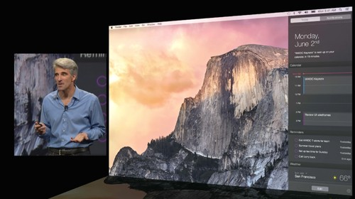 Apple Announces New OS X Yosemite with a Major Design Update and Personalized Today View