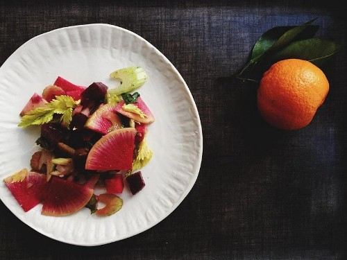 A Bright, Colorful, Lettuce-less Winter Salad