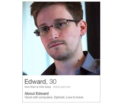 'Edward Snowden' Has a Tinder Account, and It's Hilarious
