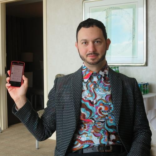 Man in Screamingly Loud Paisley Shirt Explains Google's Subtle New Design Language