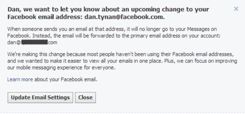 Remember Your Facebook Email Address? It's Gone.