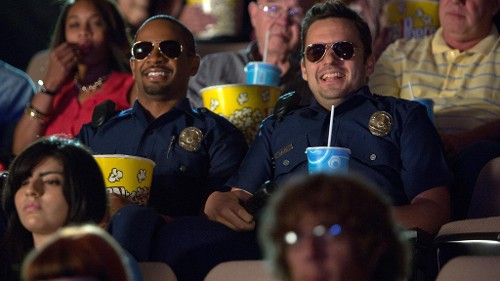 'Let's Be Cops' Works Blue in New Red and Green Band Trailers
