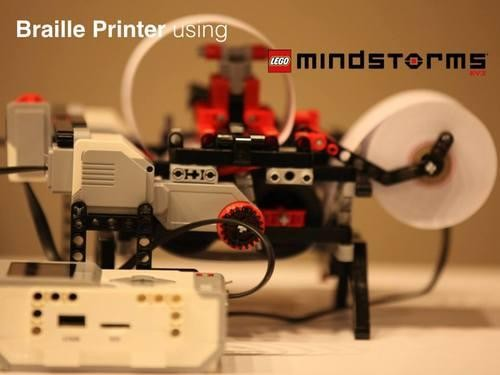 This 7th Grader Made a Braille Printer With a Lego kit and a Thumbtack