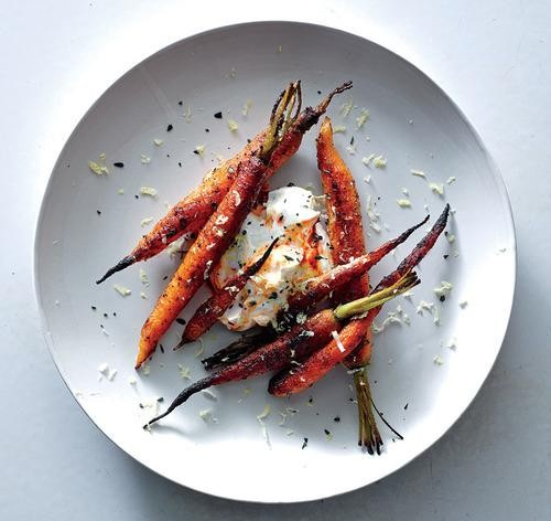Roasted Carrots with Harissa and Yogurt