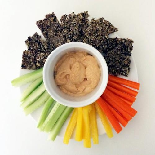 Hemp Flax Crackers Spiced With Zaatar