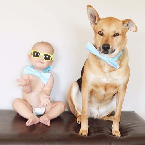 Adorable Photos Show Bond Between Baby and Dog