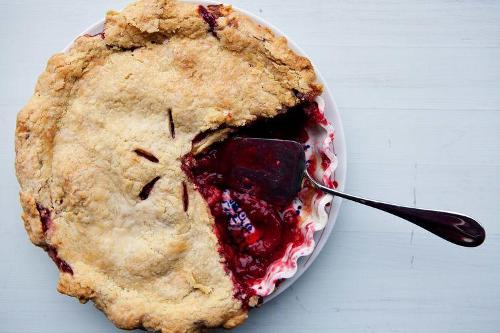 Eat Plum-Raspberry Pie for Breakfast or Dessert, Because Why Not?