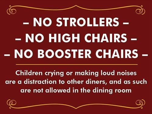 Should Crying Babies Be Forbidden at Restaurants?