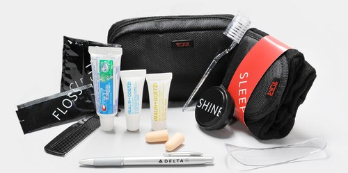 Delta Business Class Amenity Kit