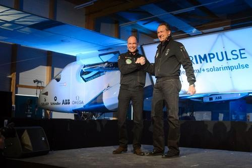 Team Unveils Solar-Powered Plane It Plans to Fly Around the World