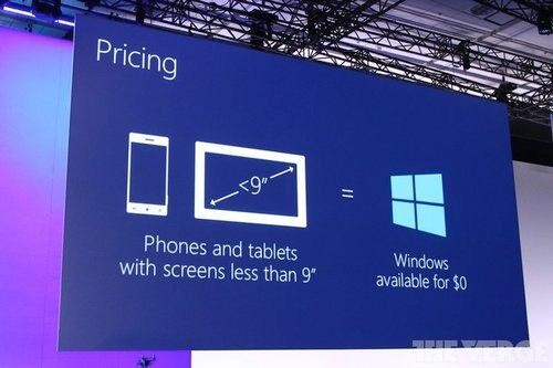 Windows Will Now Be Free to Use for Phone, Small Tablet Makers