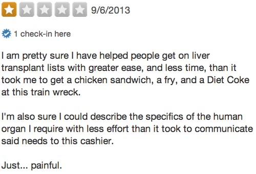10 Bad Yelp Reviews for a Decade of Yelping